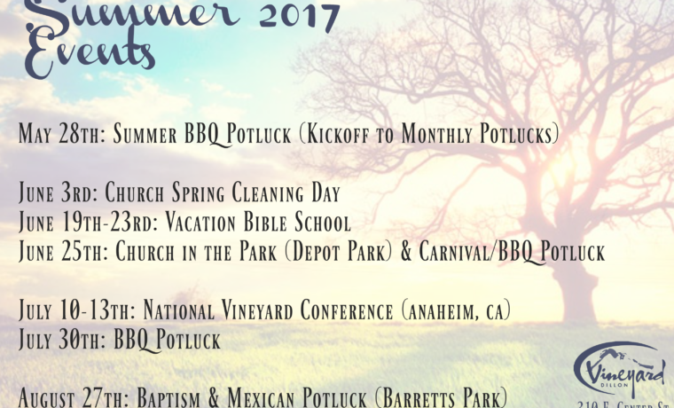 Vineyard Summer 2017 Events